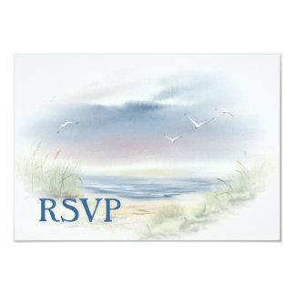 Beach Wedding RSVP invitation