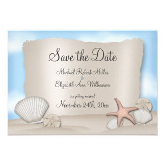 Beach Wedding Save the Date Announcements