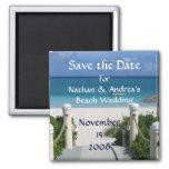"Beach Wedding ""Save the Date"" Fridge Magnet"