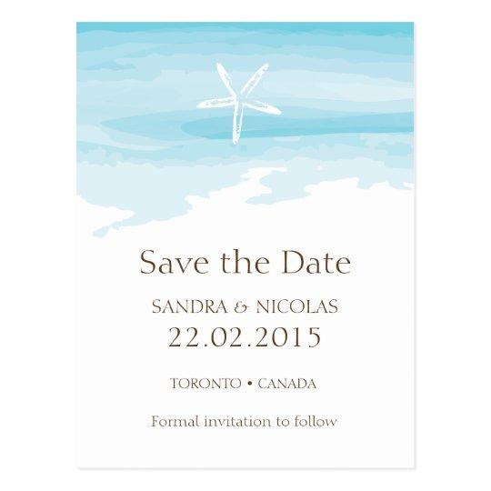 Beach Wedding Save the date ı Postcard