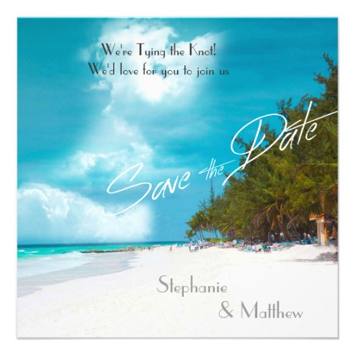 Beach Wedding Save the Date Personalized Announcements