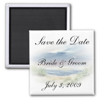 Beach Wedding Save the Date Magnets Refrigerator Magnets