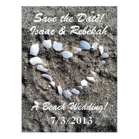 Beach Wedding Save the Date Postcard