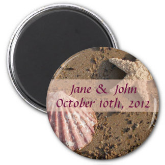 Beach Wedding Save the Date Sea Shell Magnet
