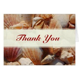 Beach Wedding Sea Shell Thank You Cards
