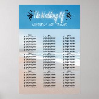 Beach Wedding Seating Charts