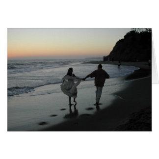 Beach Wedding Silhouette Card