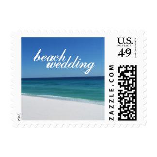 Beach Wedding Small Postage