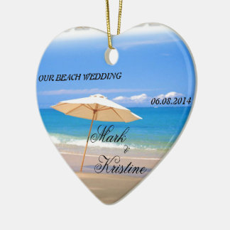 Beach Wedding Souvenirs and Giveaways Ceramic Heart Decoration