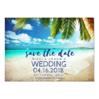Beach Wedding St. John, USVI Save the Date Card
