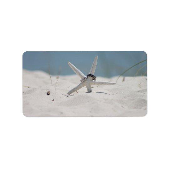 Beach Wedding Starfish Address Label