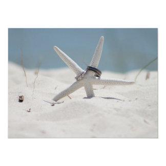 Beach Wedding Starfish Card