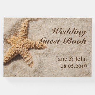 Beach Wedding Starfish Guest Book