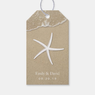 Beach Wedding Starfish & Sand Tropical Gift Tags