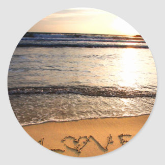 Beach Wedding Sticker