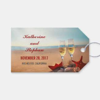 Beach Wedding Sunset Gift Tags