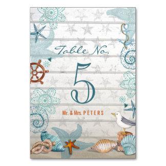 Beach Wedding | Table name settings | Tablecard Table Cards