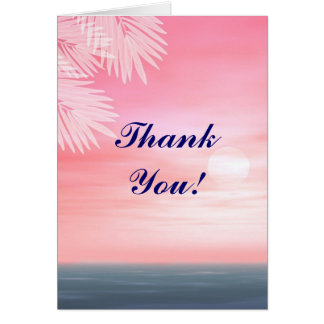 Beach wedding Thank You notecards Stationery Note Card