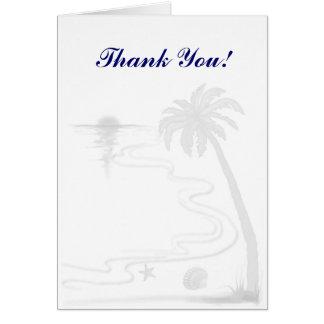 Beach wedding Thank You notecards Note Card