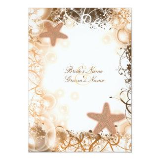 Beach wedding theme ~ elegant party custom 13 cm x 18 cm invitation card