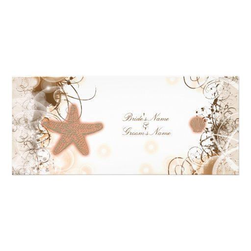 Beach wedding theme ~ elegant party custom invites