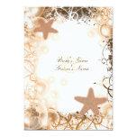 Beach wedding theme ~ elegant reception 13 cm x 18 cm invitation card