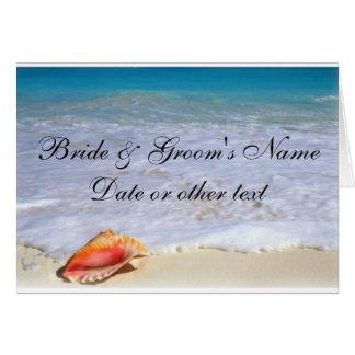 Beach Wedding Theme Invitations Greeting Card
