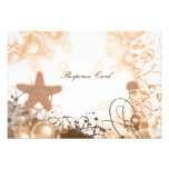 Beach wedding theme ~ response rsvp card 2 personalised announcements