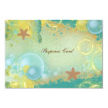 Beach wedding theme ~ response rsvp card personalised announcements