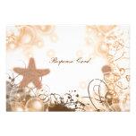 Beach wedding theme ~ response rsvp card personalized invitations