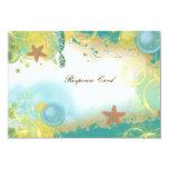 Beach wedding theme ~ response rsvp card custom invites