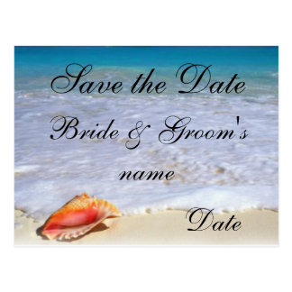 Beach Wedding Theme Save the Date Postcards