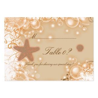Beach wedding theme ~ table number card business card template