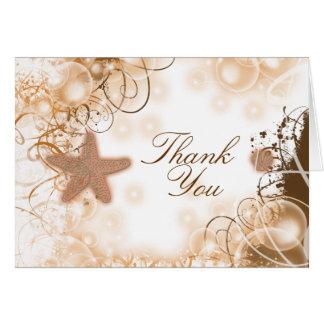 Beach wedding theme ~ thank you 2 card