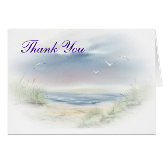 Beach Wedding Theme Thank you notecards Greeting Cards