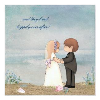 Beach Wedding Vows Invitations