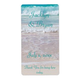 Beach Wedding Wine, Water Label Shipping Label