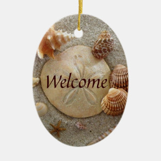 BEACH Welcome Sign Christmas Ornament