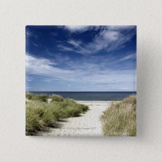 Beach, Welfleet MA 15 Cm Square Badge