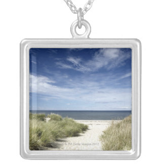 Beach, Welfleet MA Silver Plated Necklace