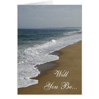 Beach Will You Be My Bridesmaid Card