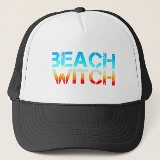 beach witch trucker hat
