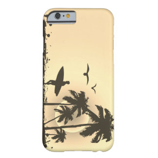 beach with palm surfer in Hawaii Barely There iPhone 6 Case
