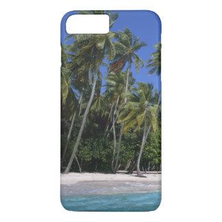 Beach with palm trees, Maldives iPhone 8 Plus/7 Plus Case
