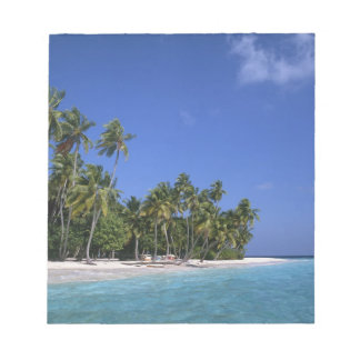 Beach with palm trees, Maldives Notepad