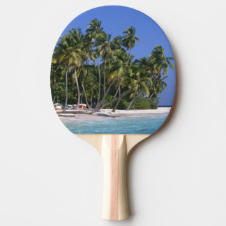 Beach with palm trees, Maldives Ping Pong Paddle