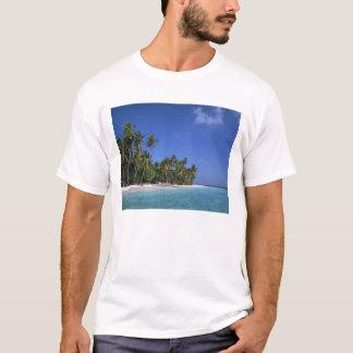 Beach with palm trees, Maldives T-Shirt