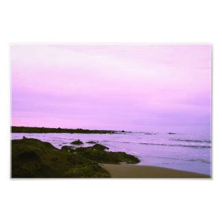 Beach  with purple sky photograph