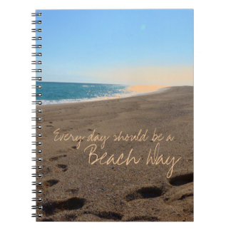 Beach with Quote Notebook