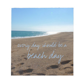 Beach with Quote Notepad